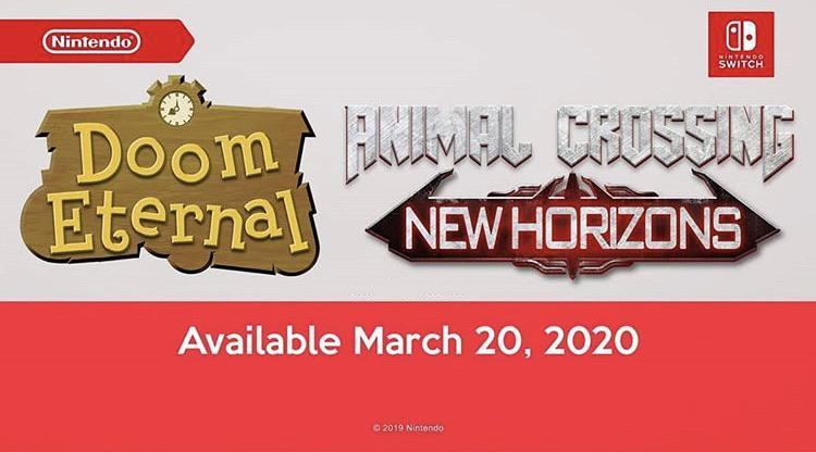Animal Crossing: New Horizons, la direttrice è entusiasta dalle fan art crossover di DOOM Eternal