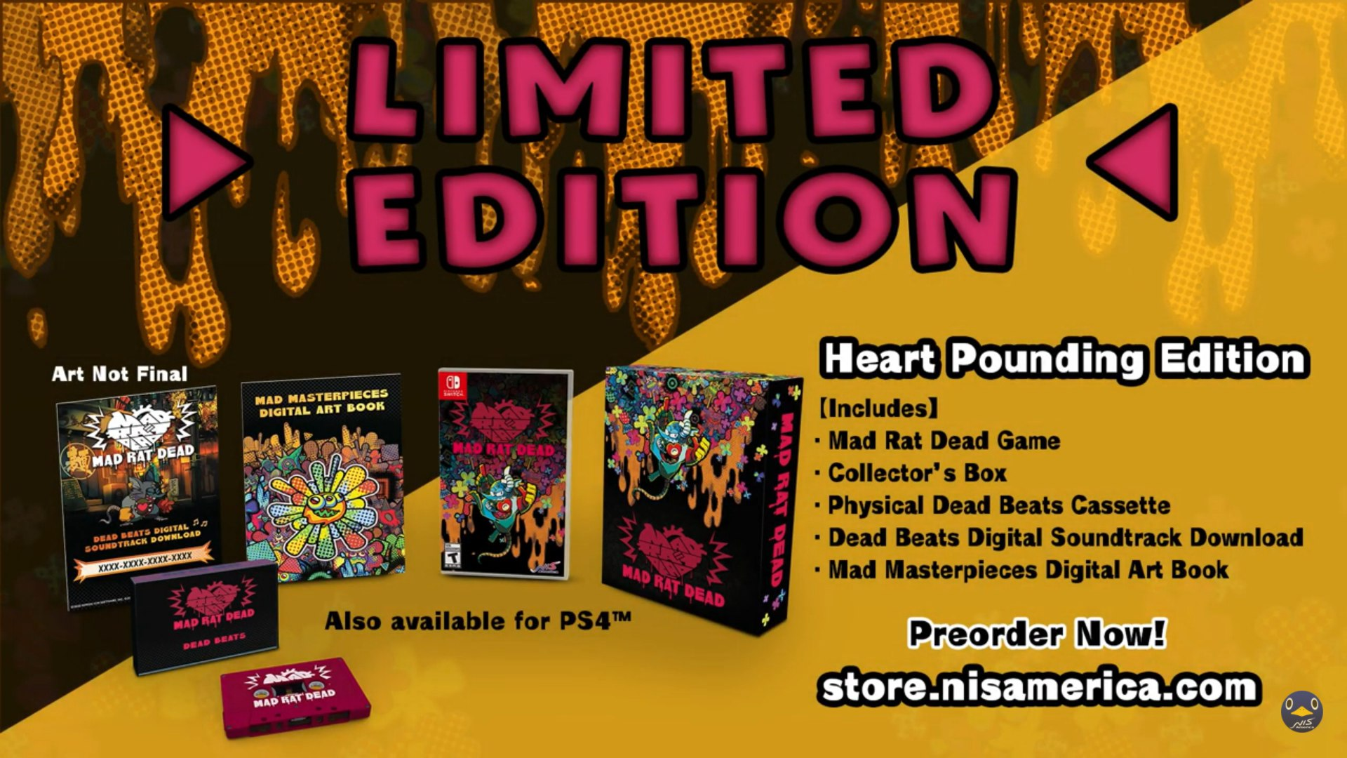 Mad Rat Dead, Mad Rat Dead Limited Edition, Mad Rat Dead Uscita, Mad Rat Dead PlayStation 4, Rhythm Games PS4