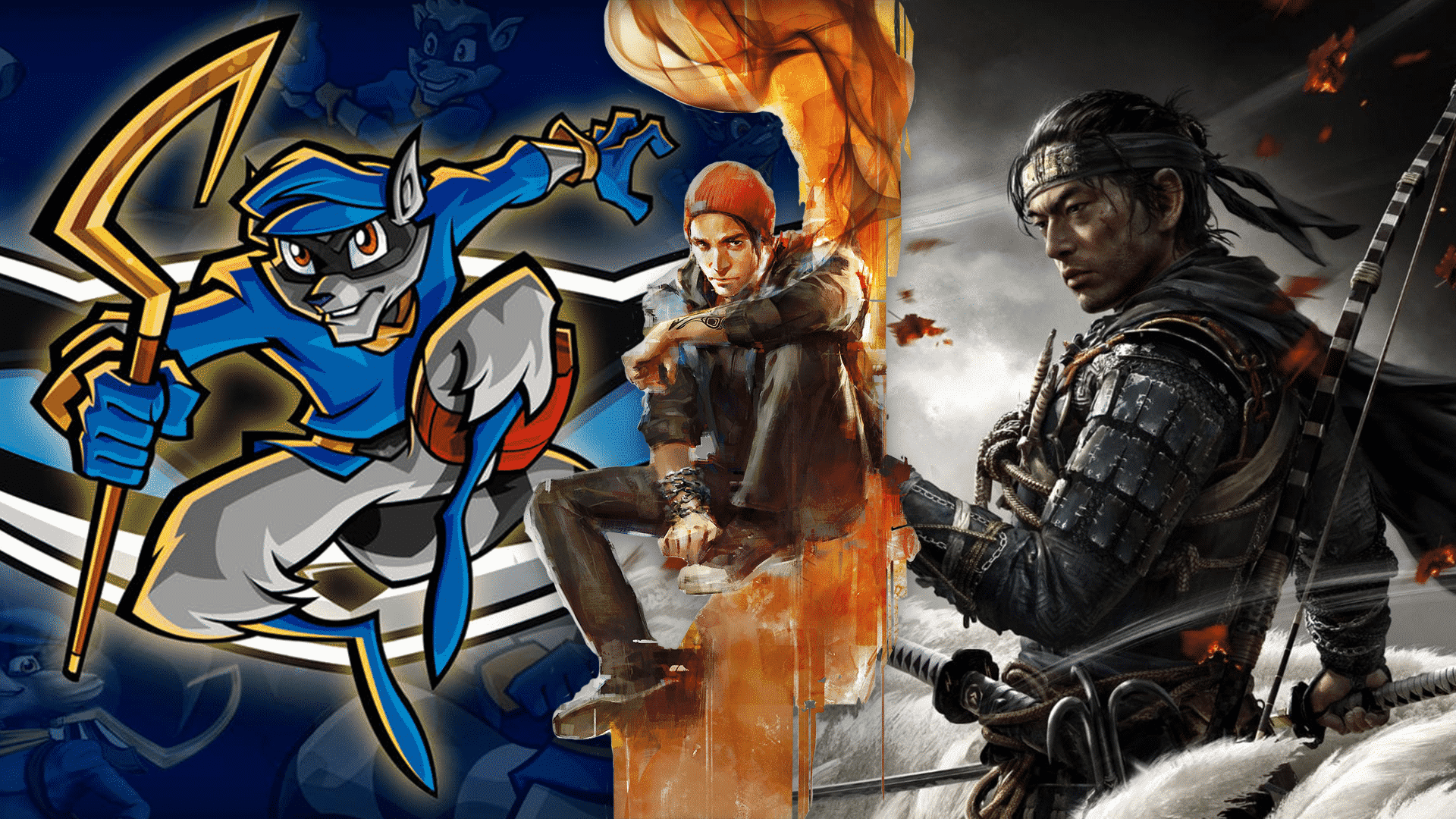 Ghost of Tsushima, Ghost of Tsushima 2, Infamous, Sly Cooper, Sucker Punch