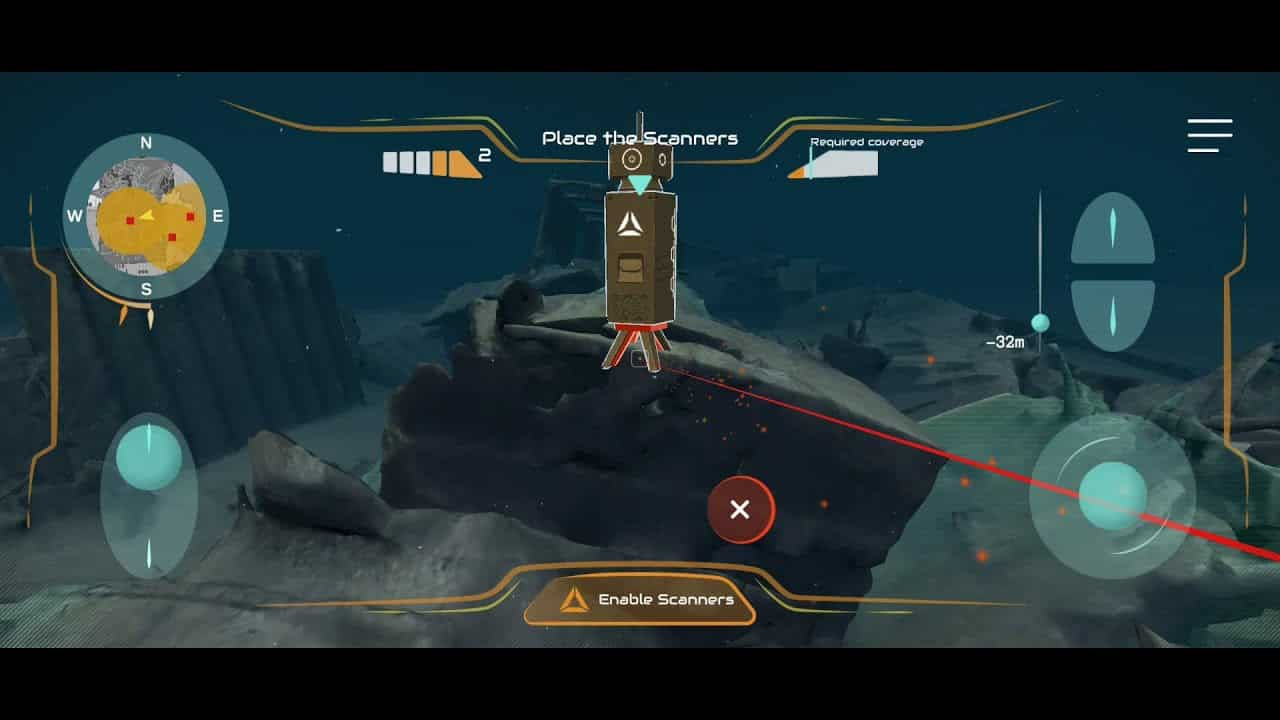 Dive in the Past gameplay